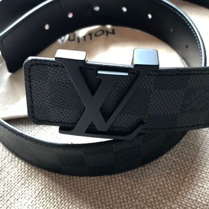 Auth Louis Vuitton Monogram Unisex LV Belt